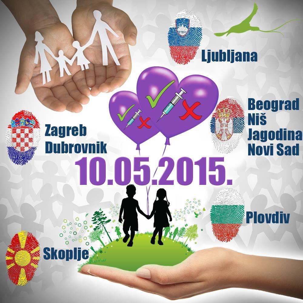 Manifestación en Belgrado contra la obligación  de la vacunación infantil