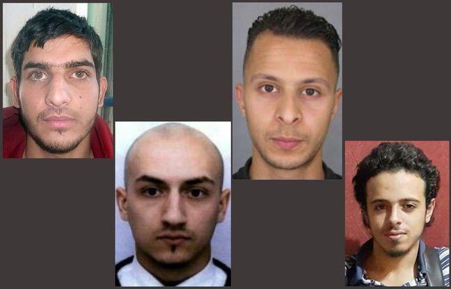 Montaje de fotos de los terroristas que han atacado París el 13/11/2015.
