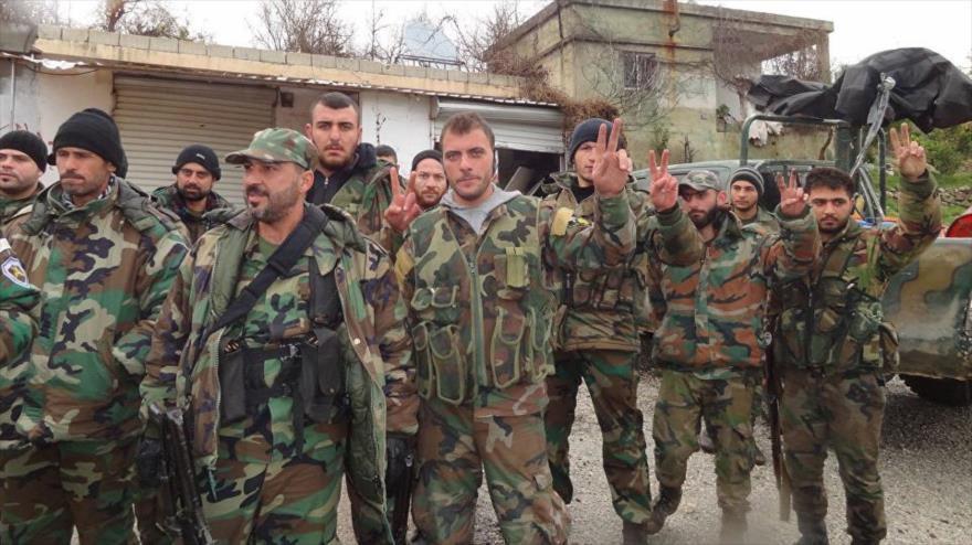 Soldados del Ejército sirio desplegados en la provincia noroccidental de Latakia