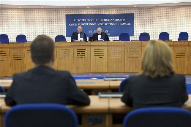 Lectura de una sentencia en el Tribunal Europeo de Derechos Humanos de Estrasburgo EFE