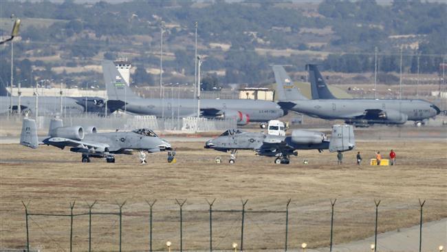 La base aérea Incirlik rodeada por las fuerzas militares turcas, el 30 de julio 2016©AFP