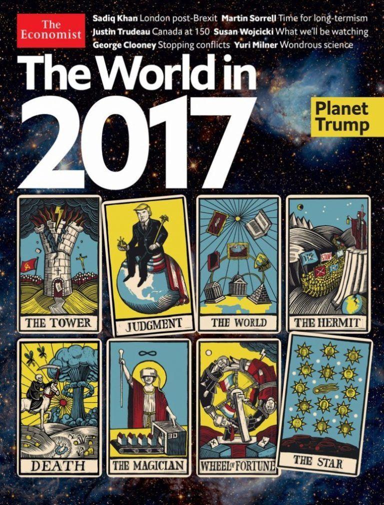 La revista The economist os desea feliz año 2017 mediante el Tarot, nada bueno anuncia