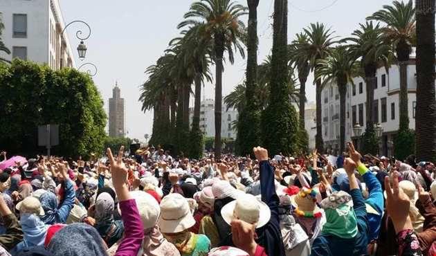 """De Qatar a Marruecos: la conspiración sufí, la asociación Justicia y Caridad """"Adl wa Al-Hihsan&quot&#x3B;, protesta en solidaridad con las manifestaciones de Alhucemas"""