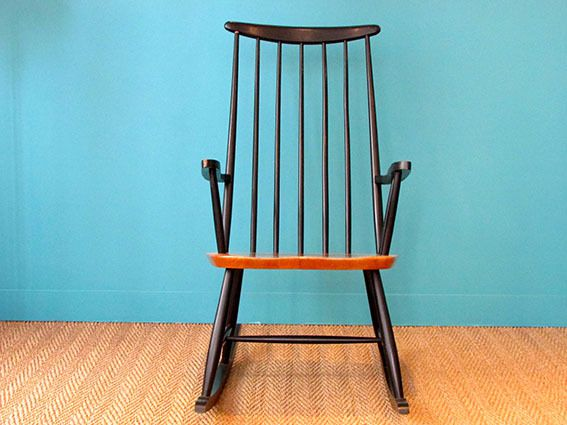 rocking chair scandinave 1950 coin canal. Black Bedroom Furniture Sets. Home Design Ideas