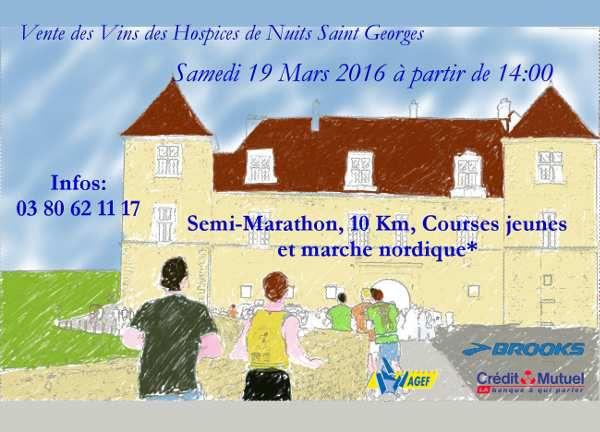 Semi Marathon de Nuits Saint Georges (19/03/16)