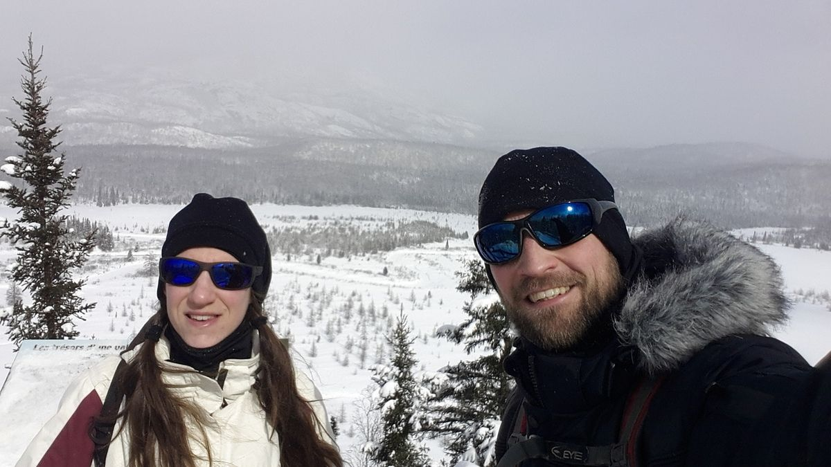 Canada : Celui qui raquettait dans les Monts Valin