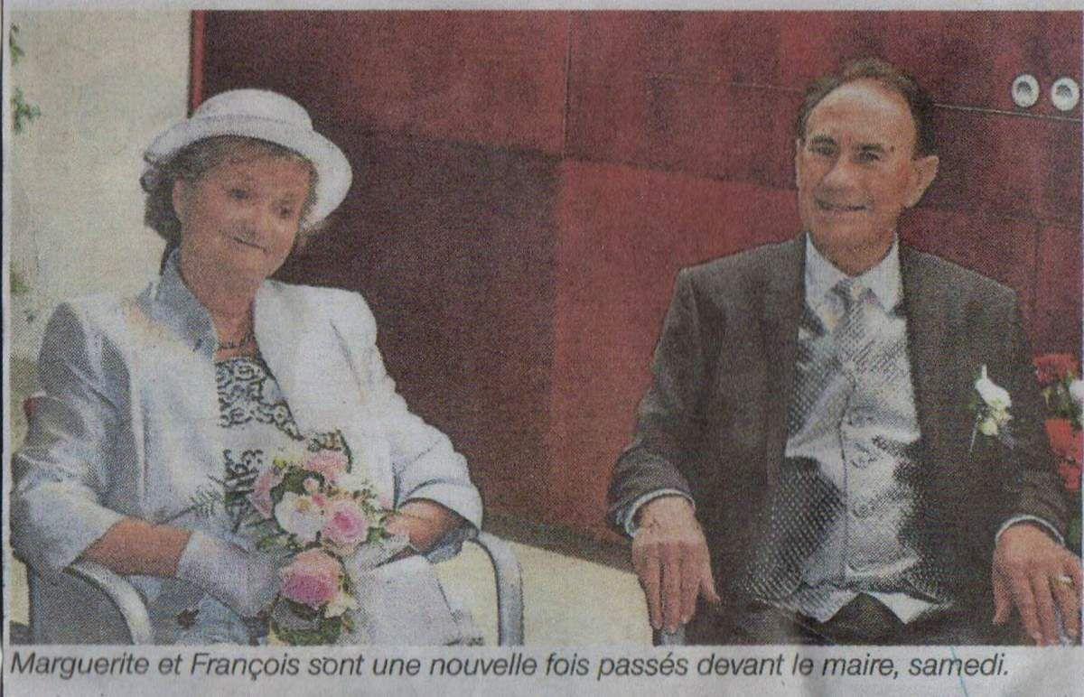 Noces d'or bréhatines à Langueux: François et Marguerite le samedi 19 septembre 2015