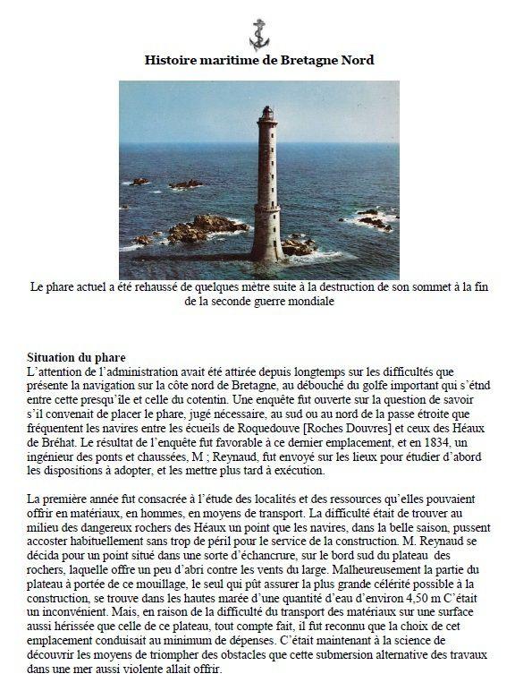 Phare des Héaux de Bréhat téléchargement PDF