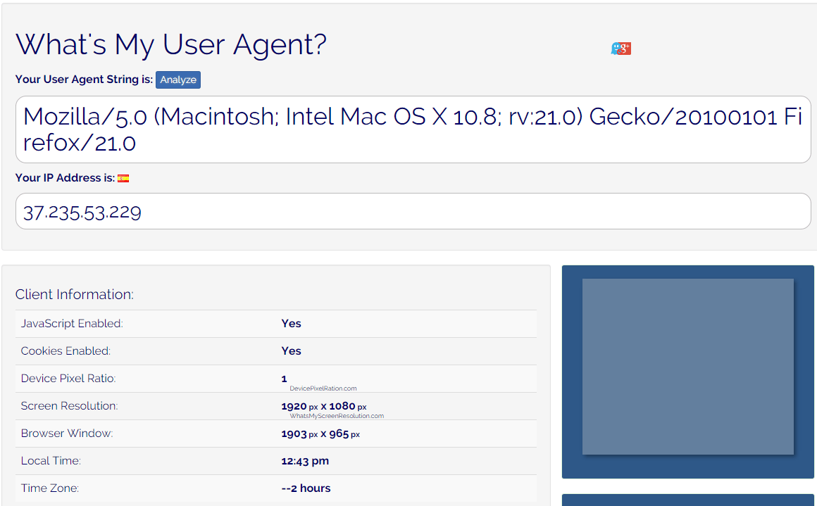 What's My User Agent ?