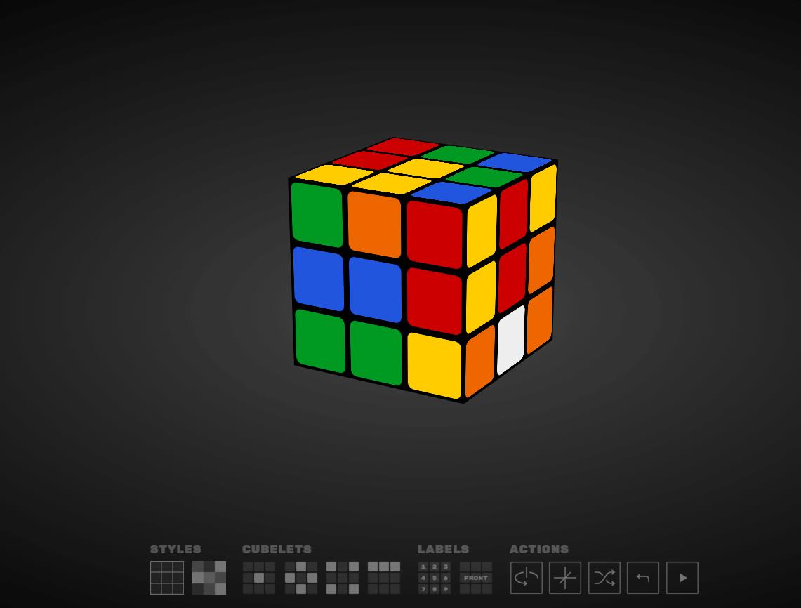 Jouer au Rubik's Cube en ligne, c'est possible.