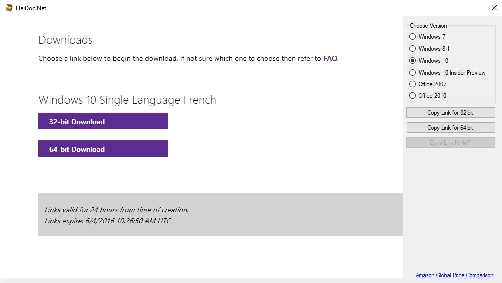 Télécharger les versions de Windows en tout simplicité.