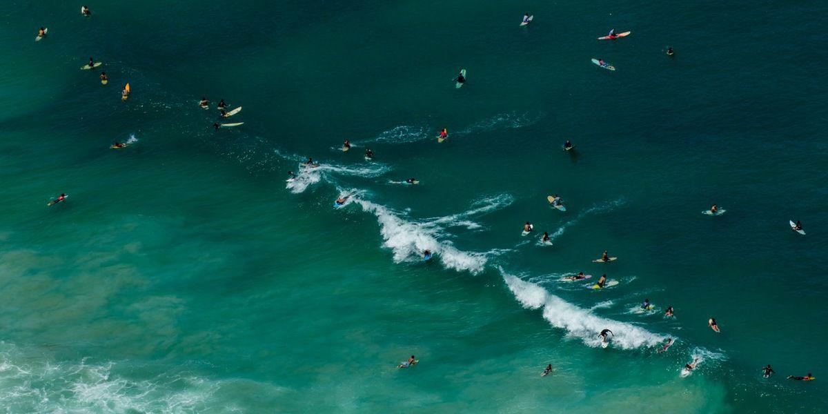 Sur la plage à Rio