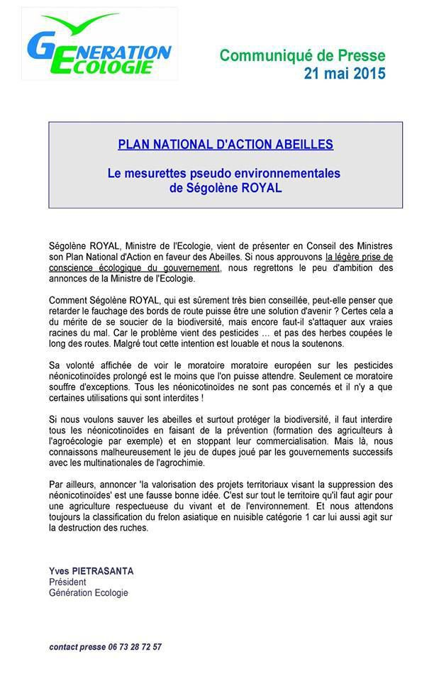 Plan national Actions Abeilles