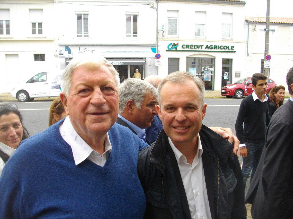 Yves Piétrasanta et François de Rugy à La Rochelle en août 2015