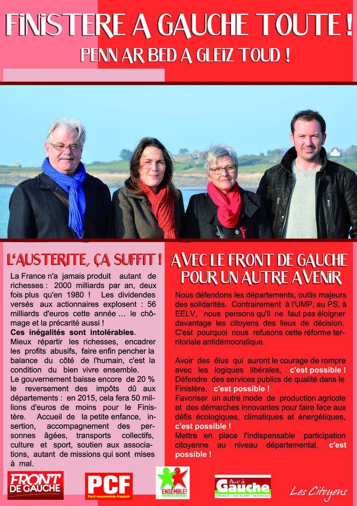 Roger Héré, Solène André, Martine Carn, Jeremy Lainé: en route pour l'élection au nouveau conseil départemental!