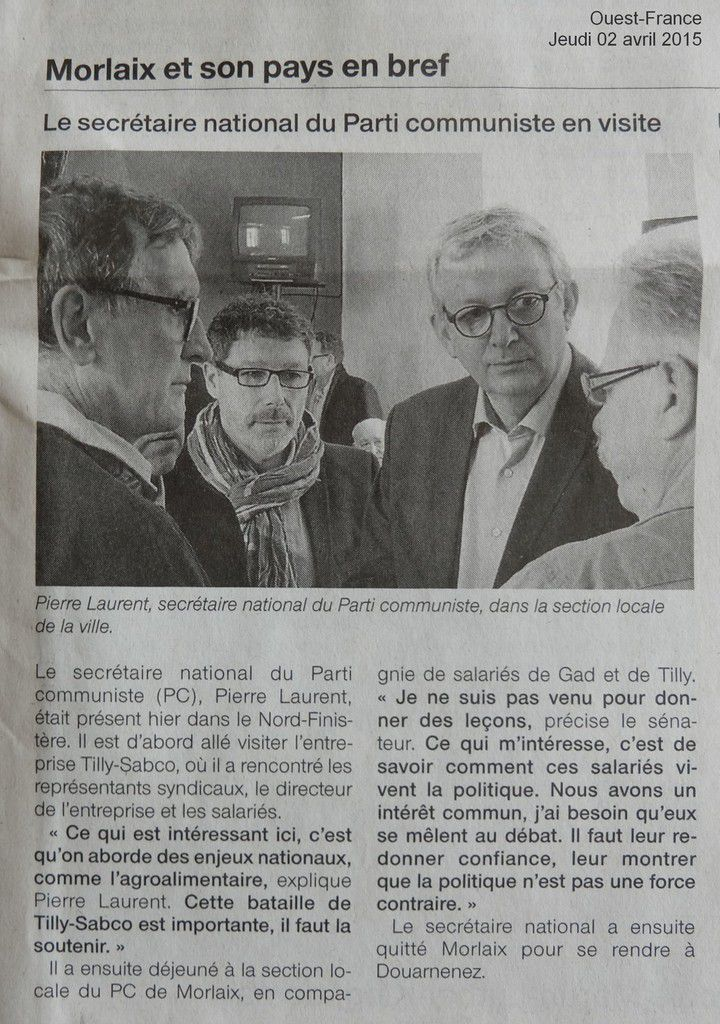 Ouest-France, 2 avril 2015
