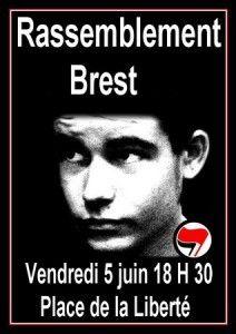 Communiqué de la LDH Brest à l'occasion de l'anniversaire de la mort de Clément Méric