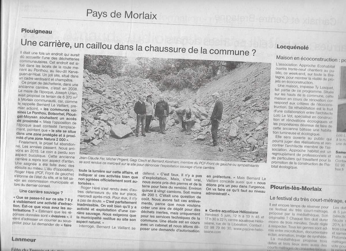 Article Ouest-France, 5 juin 2015