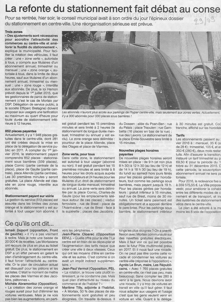 Ouest-France, 29/09/2015
