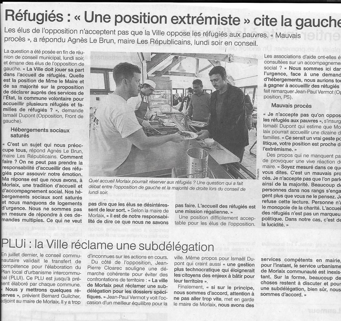 Ouest-France, 30/09/2015
