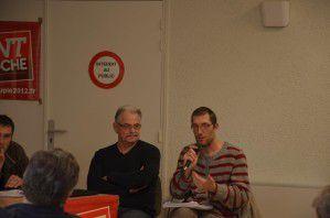 Julien Delbende, ici au micro aux Rencontres du Front de Gauche, membre du Parti de Gauche, 8 ème sur la liste des Régionales dans le Finistère