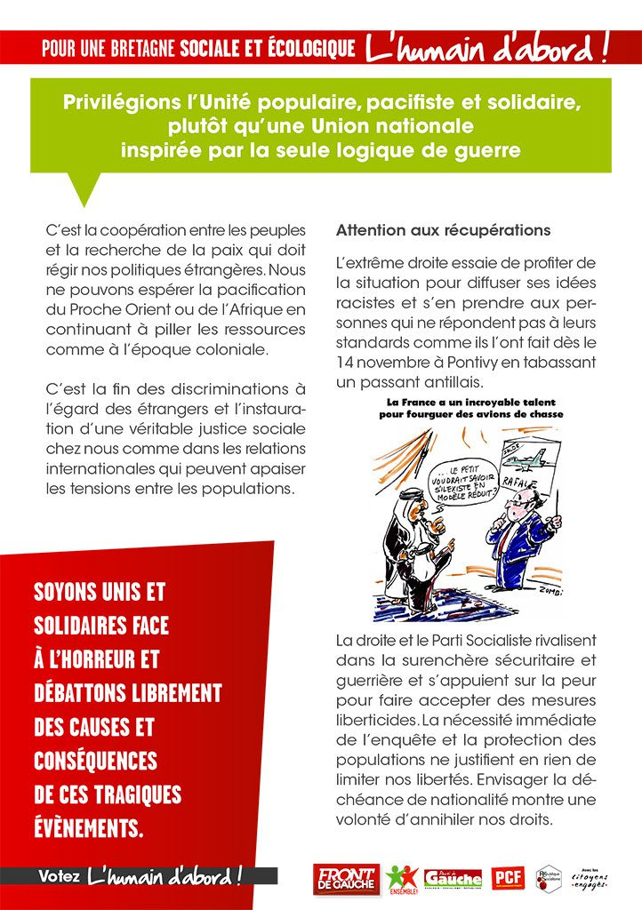 Front de Gauche : campagne des élections régionales