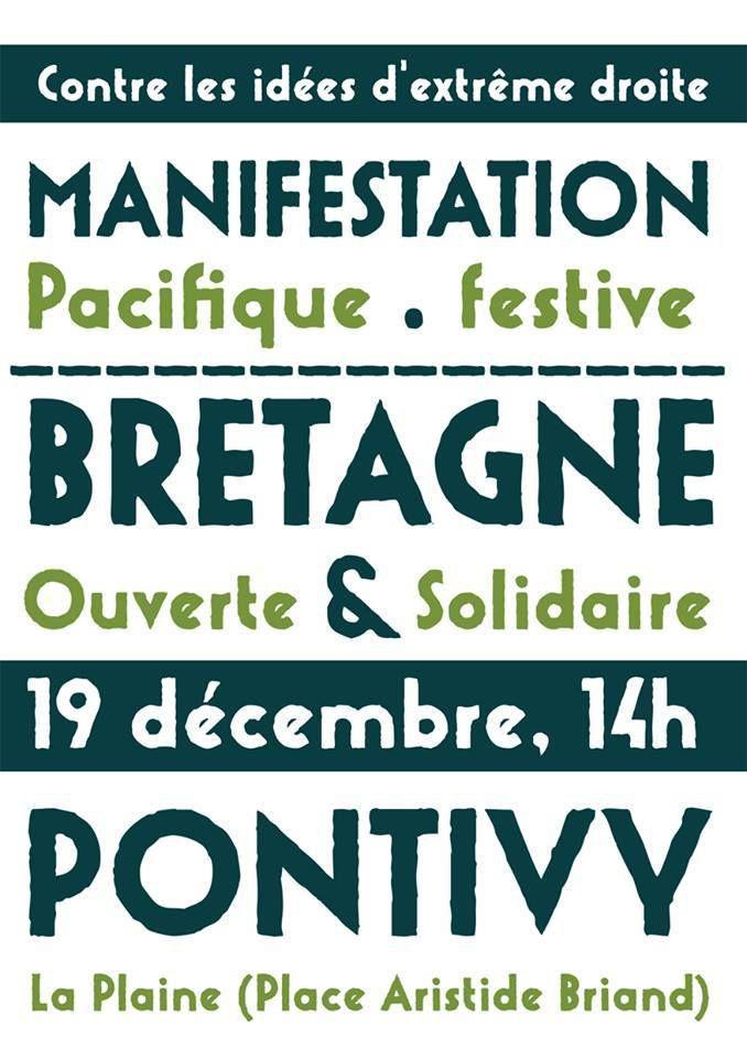 Manifestation régionale pour une Bretagne ouverte et solidaire: Pontivy, samedi 19 décembre à 14h