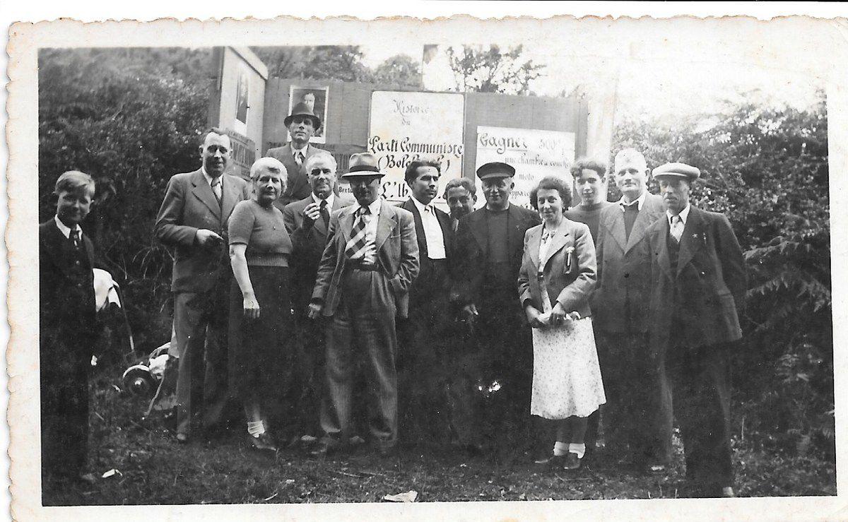 section communiste de Beuzec, aujourd'hui rattachée à Concarneau (Archives Pierre Le Rose)