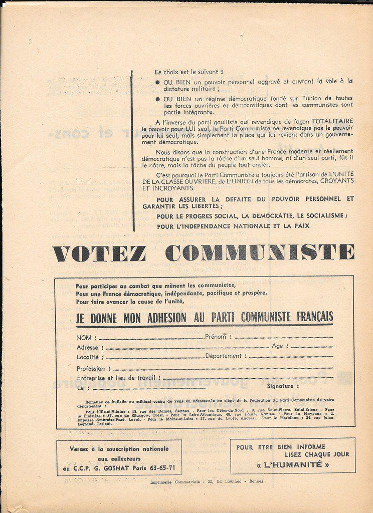 1967-1968: le Parti Communiste dans les luttes du Finistère (archives Pierre Le Rose)