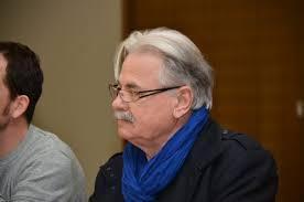 Roger Héré pendant la campagne des départementales de mars 2014
