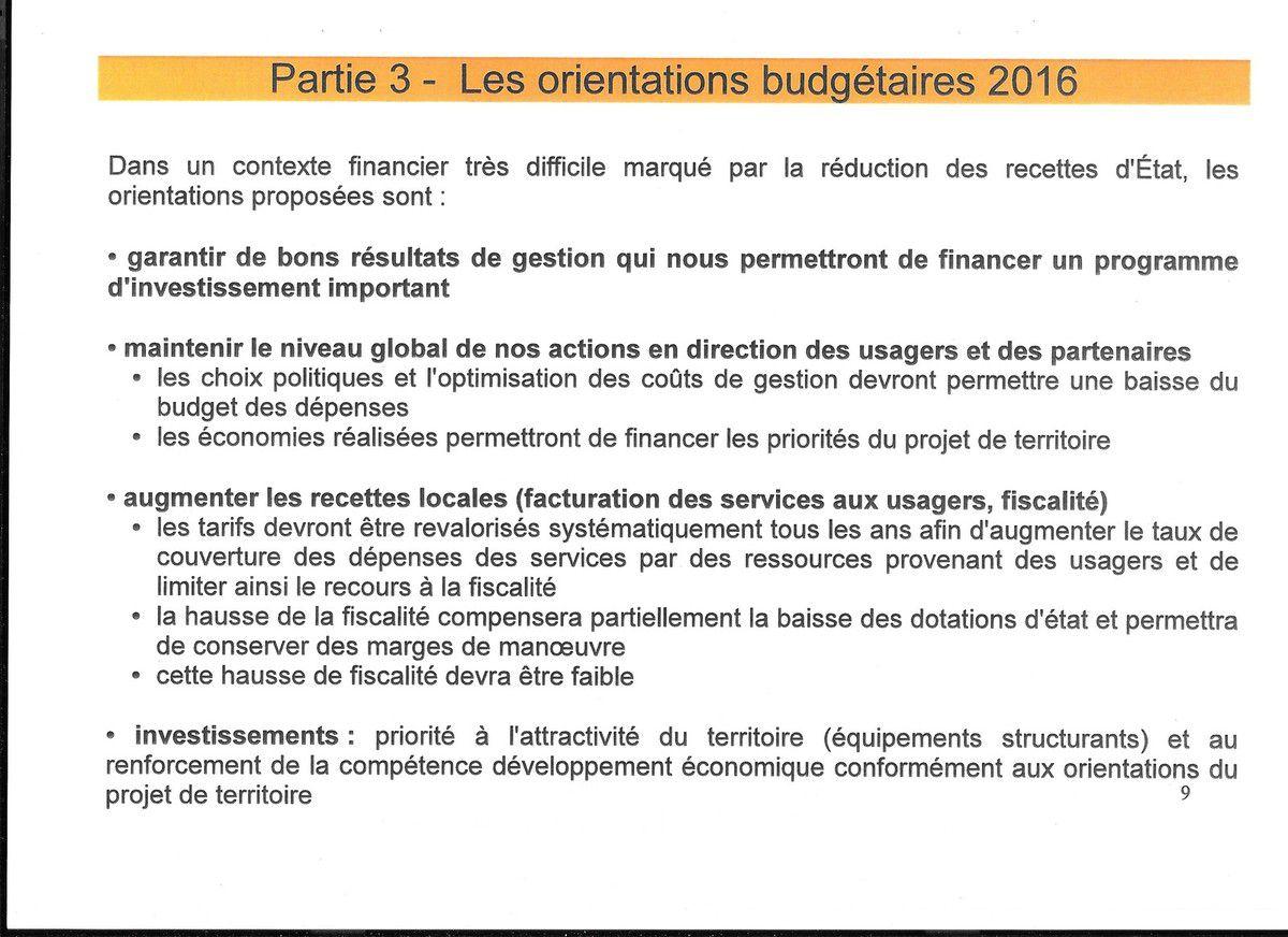 Compte rendu du Conseil Communautaire du 25 janvier 2016 par Ismaël Dupont (photos Pierre-Yvon Boisnard)