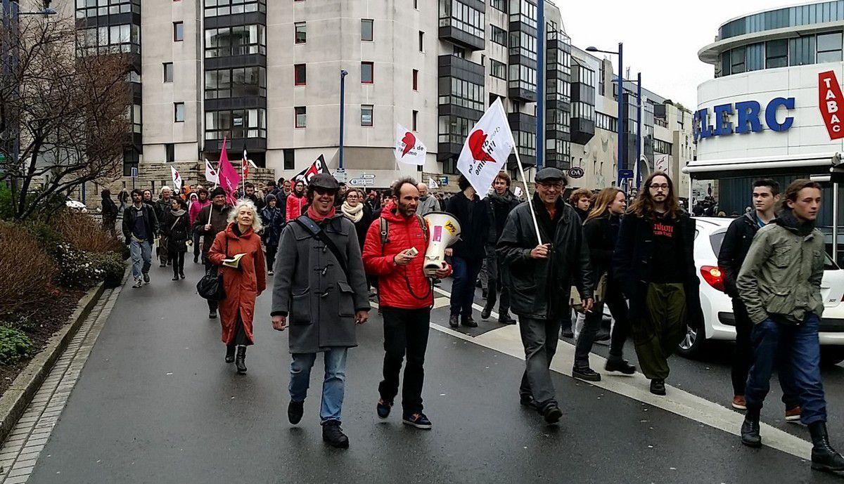 Rassemblement de Brest le 30 janvier: 300 personnes dans la rue (photos Dominique Resmon)