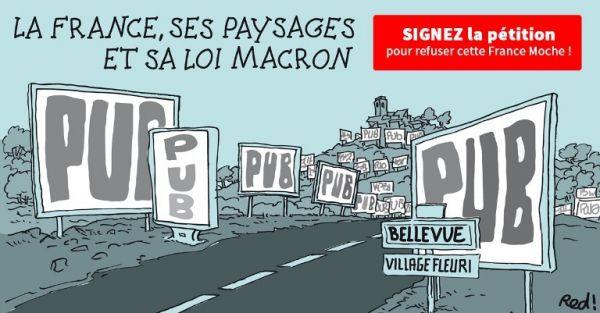 La France, ses paysages et sa loi Macron: signez la pétition pour refuser la France moche des panneaux publicitaires