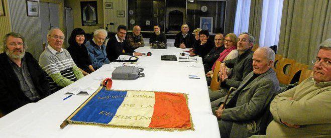 Le comité local de BREST de l'ANACR réuni en Assemblée Générale (Le Télégramme)