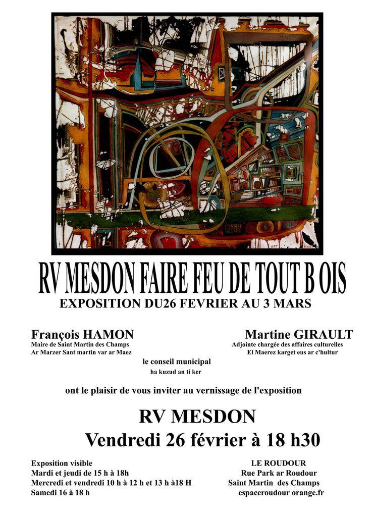 Exposition Hervé Mesdon au Roudour de St Martin des Champs à partir du 26 février