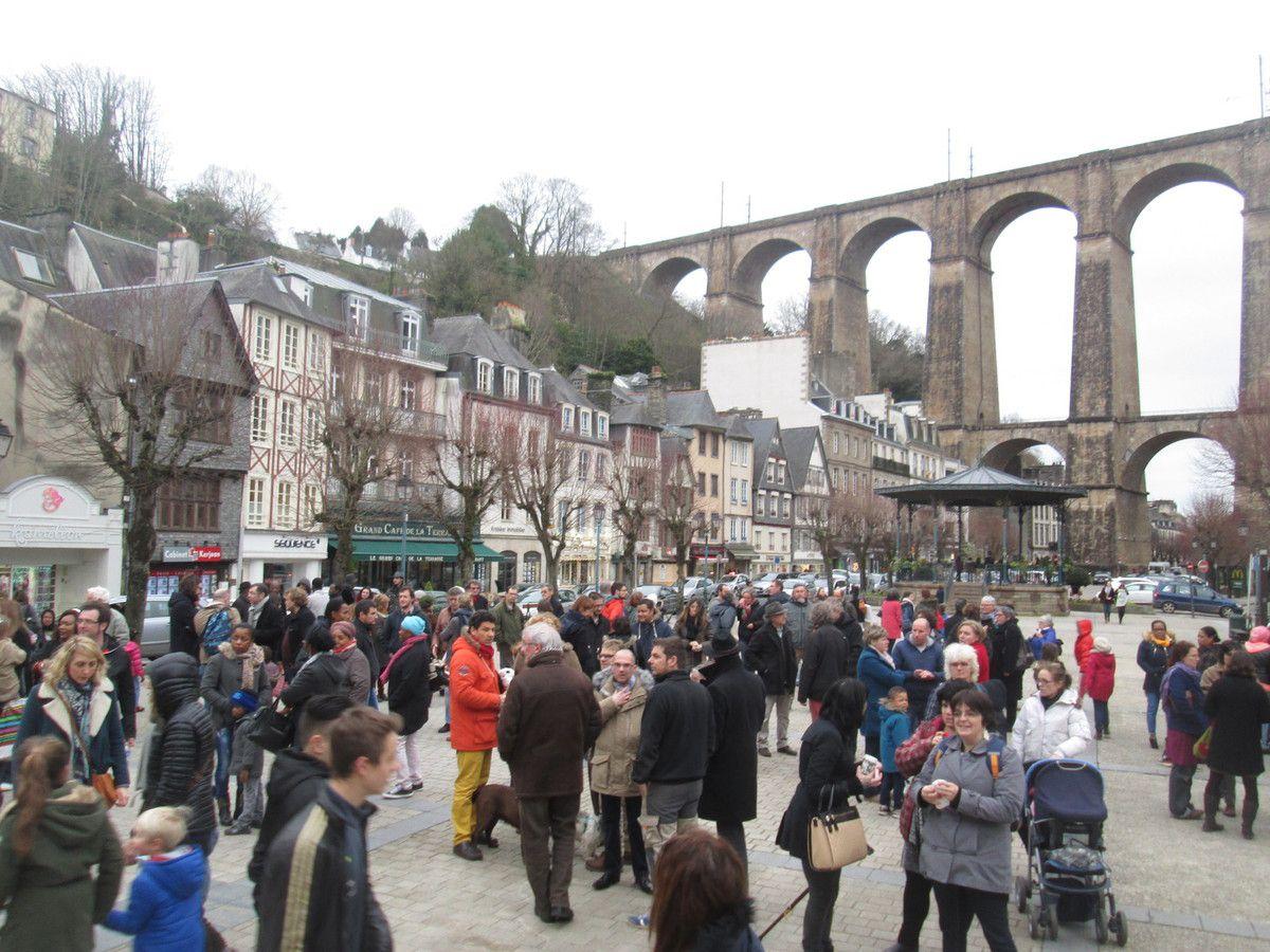 Photo du rassemblement contre le passage au Menu Unique sans information ni concertation le vendredi 5 février 2016