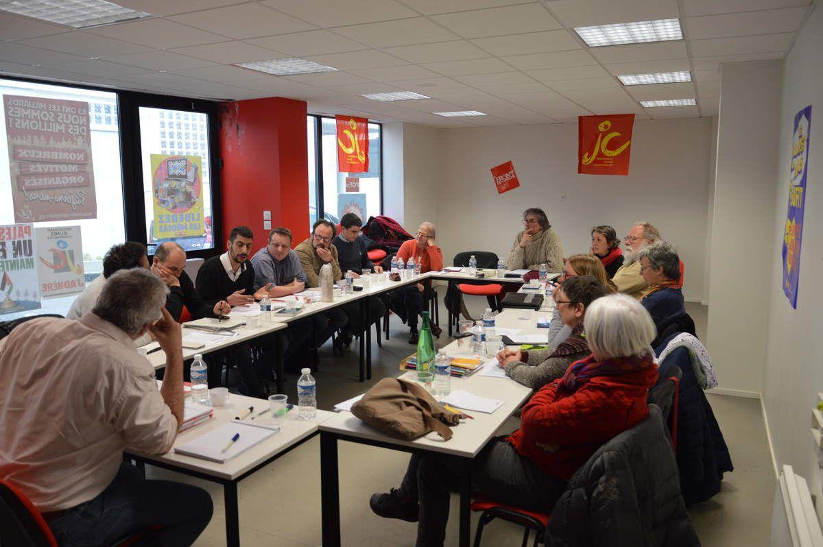 Formation militante à la fédé PCF du Finistère le samedi 12 mars (photos Dominique Gontier)