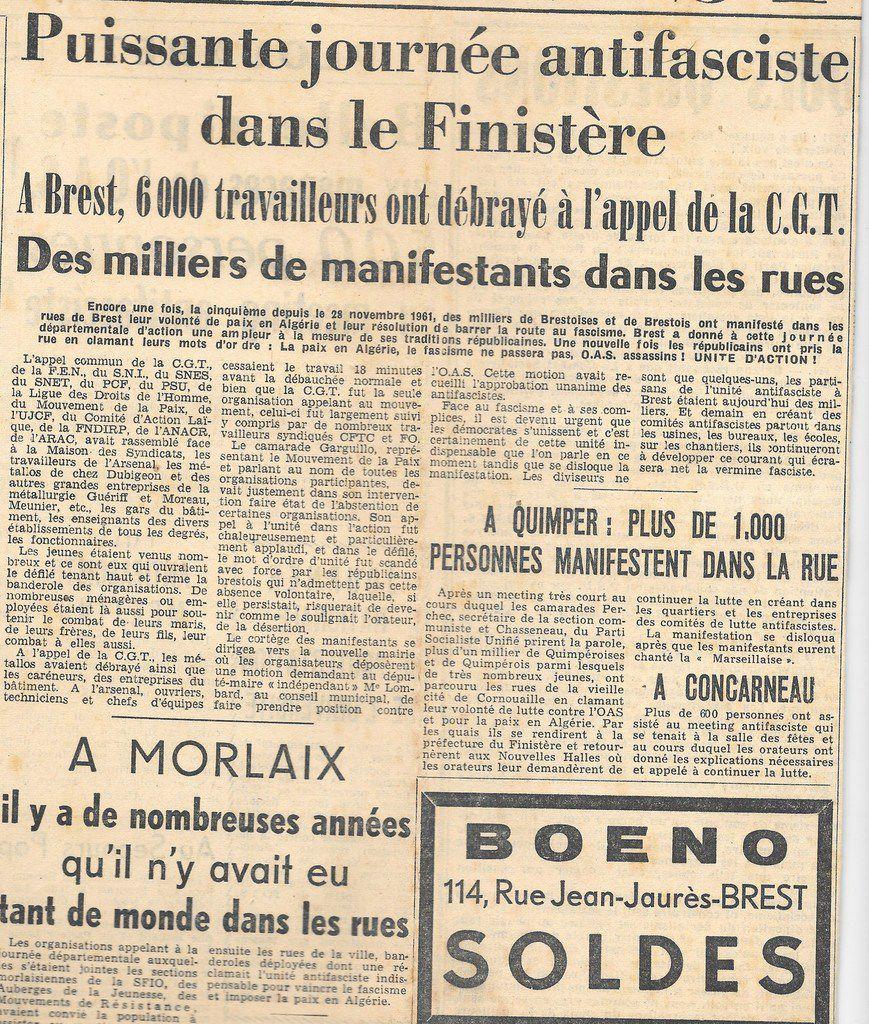 Notre Finistère (L'Humanité Dimanche), 4 février 1962