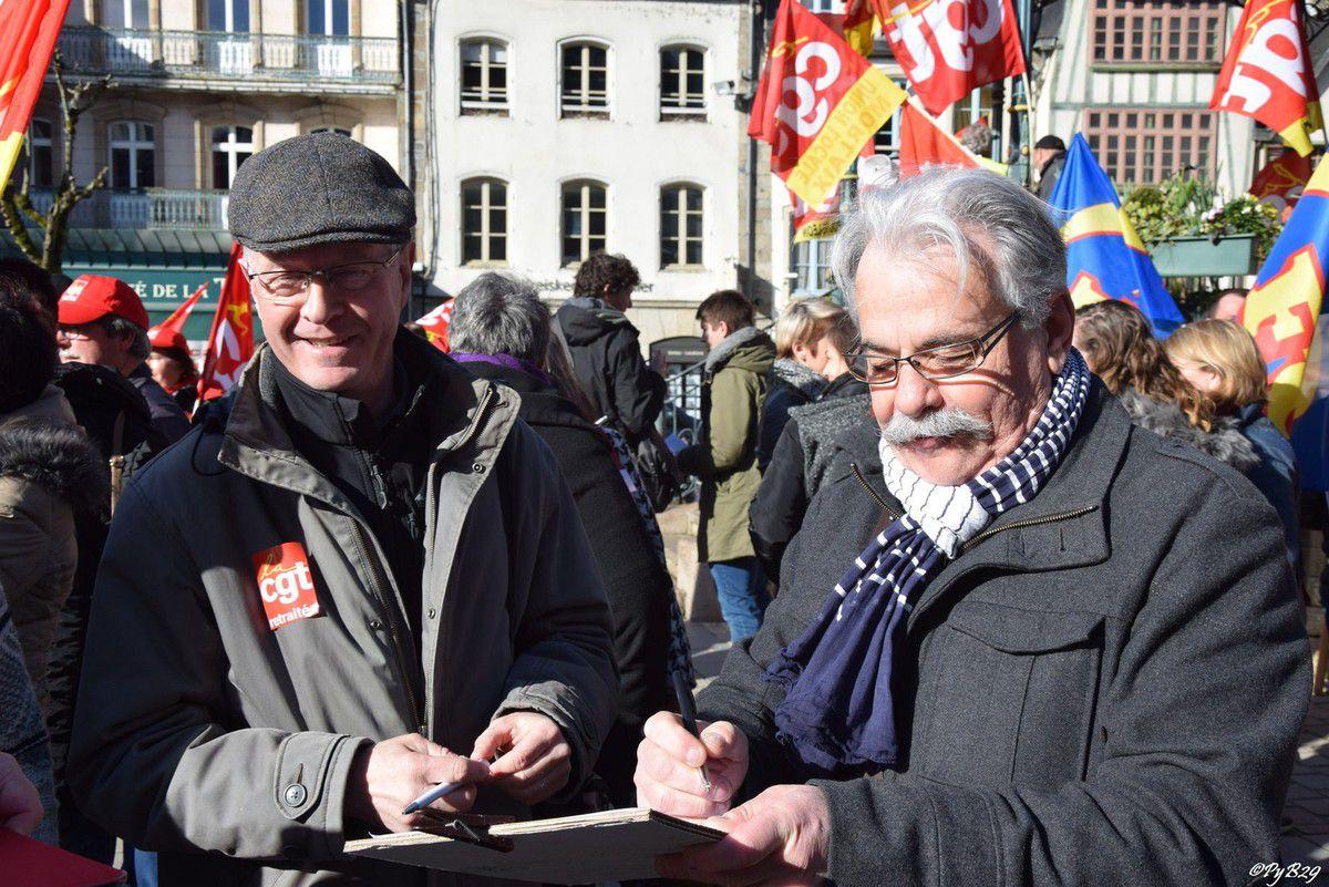 Manifs du 31 mars à Morlaix contre la loi El Khomri: photos de Pierre-Yvon Boisnard (Le Homard Enchaîné)