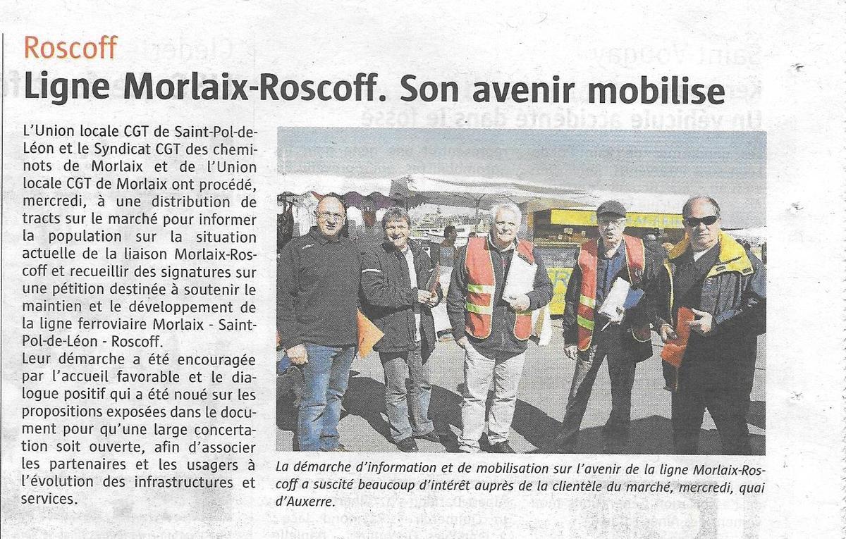 Ligne Morlaix-Roscoff: son avenir mobilise