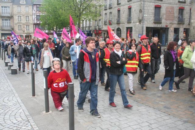 Photo Ouest-France Manif du 12 mai à Quimper contre la loi travail