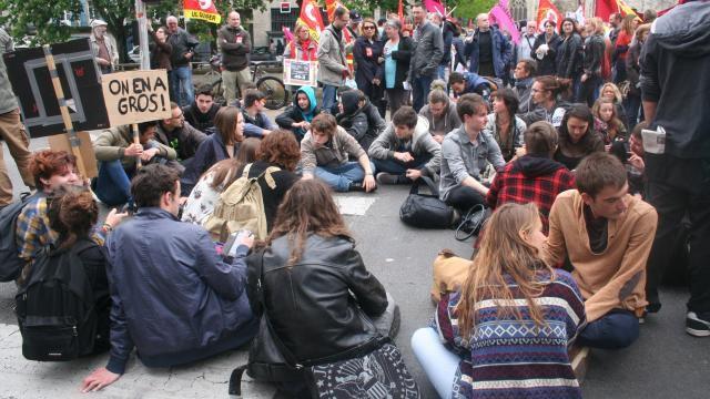 Photo Ouest France Manif du 12 mai à Quimper contre la loi travail
