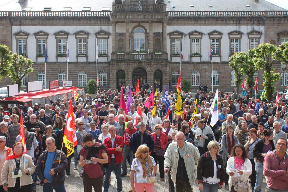 500 personnes à la manifestation à Morlaix contre la loi El Khomri ce 26 mai (l'album photo)