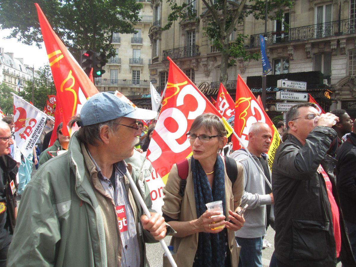 Photos de l'immense manif du 14 juin pour le retrait de la loi El Khomri à Paris