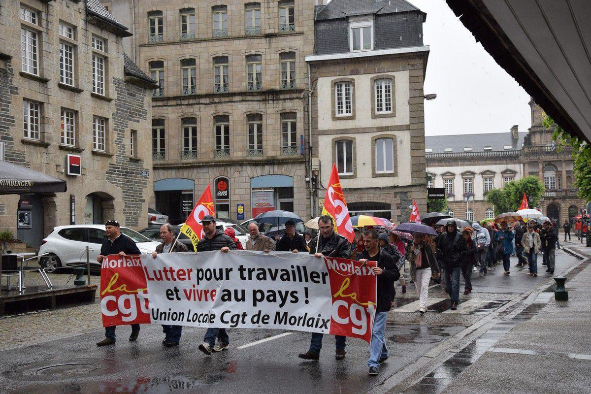 Photos du rassemblement du 23 juin à Morlaix contre la loi El Khomri (Pierre-Yvon Boisnard)