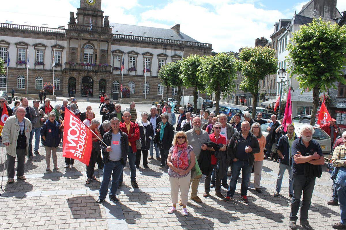 photo Jean-Luc Le Calvez - manif Morlaix contre la loi travail, 5 juillet 2016