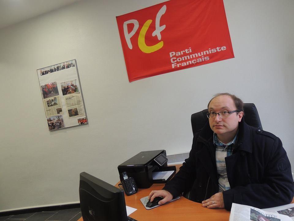 Le conseiller municipal d'Hénin-Beaumont (Pas-de-Calais) déplore la manière dont le Front national instrumentalise la justice. Photo : Jean-Luc Degremont (PCF)