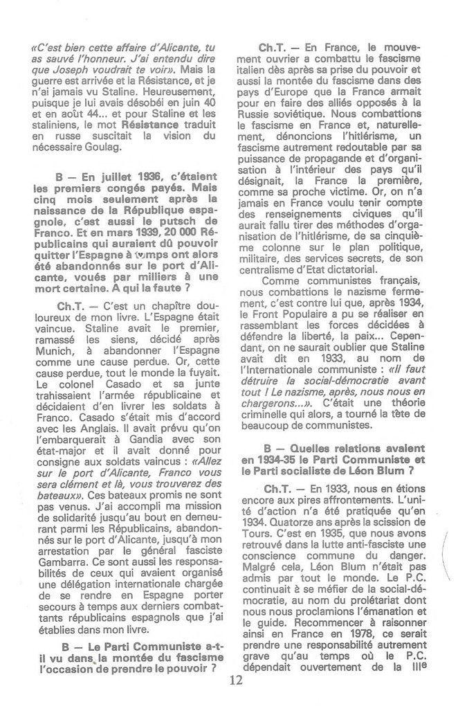 1978: Charles Tillon revient sur sa traversée du siècle et ses engagements avec Michel Kerninon dans la revue Bretagnes n°8 : Désenchaîner l'espérance