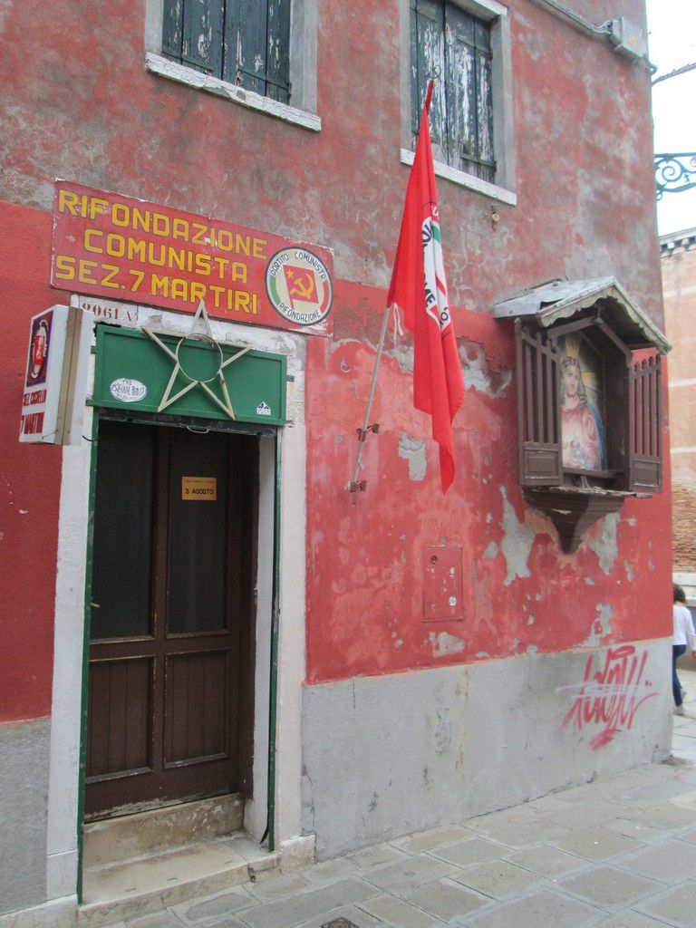 Local de Rifondazione Communista à Venise, près de l'ancien Arsenal