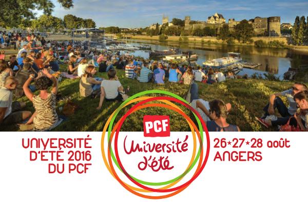Programme de l'Université d'été du PCF du 26 au 28 août à Angers